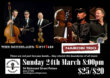 130324 Nairobi Trio and Dixieland Gipsy Band poster