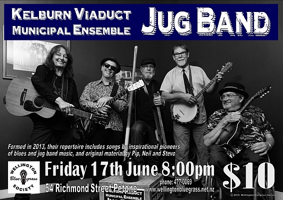 160617 Kelburn Viaduct Municipal Ensemble Jug Band