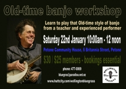 Don Milne banjo workshop