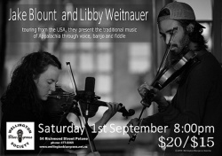 Jake Blount and Libby Weitnauer concert